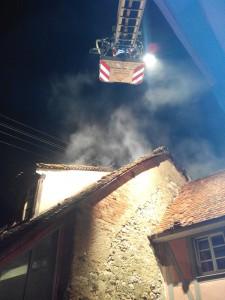 EB17-2016 DLK Anforderung Gebäudebrand in Blansingen
